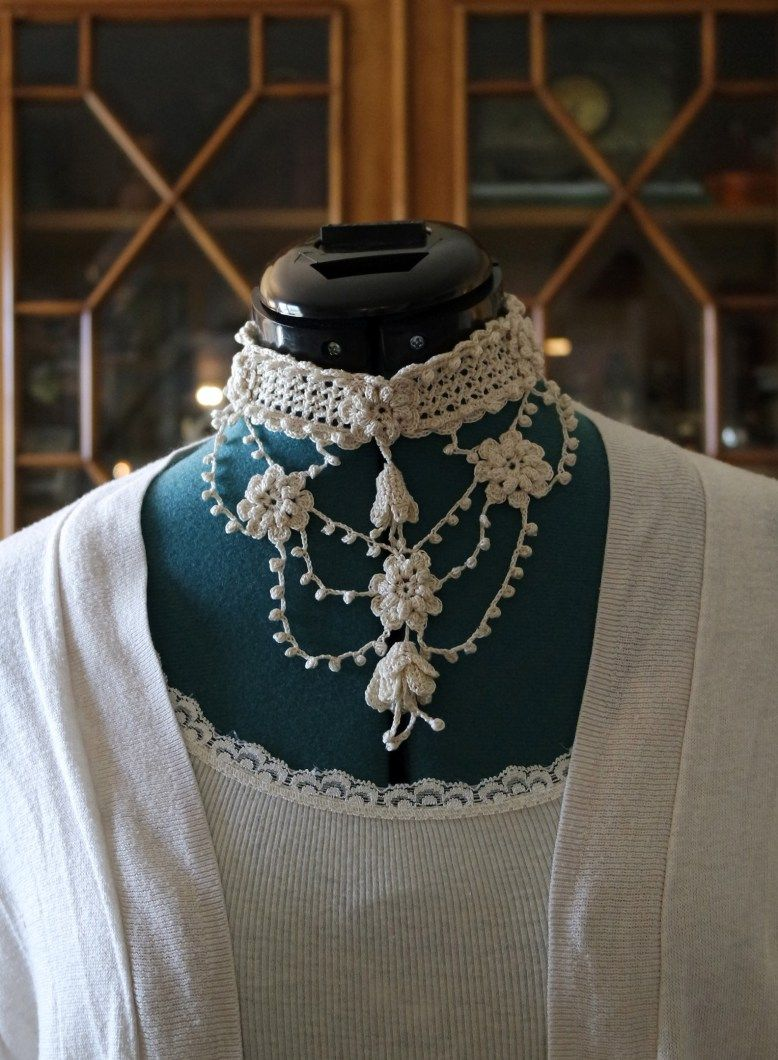Crochet Jewelry – Bib Necklace | crocheting | Pinterest