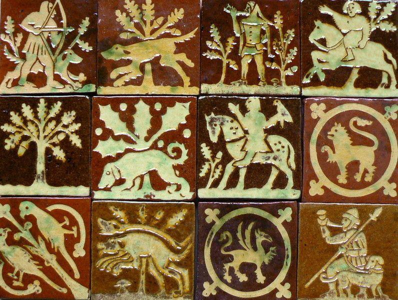 Andrew McGarva,Medieval style tiles, Carreaux style médiéval ...