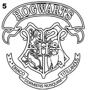 Malvorlage Wappen Hogwarts Coloring And Malvorlagan