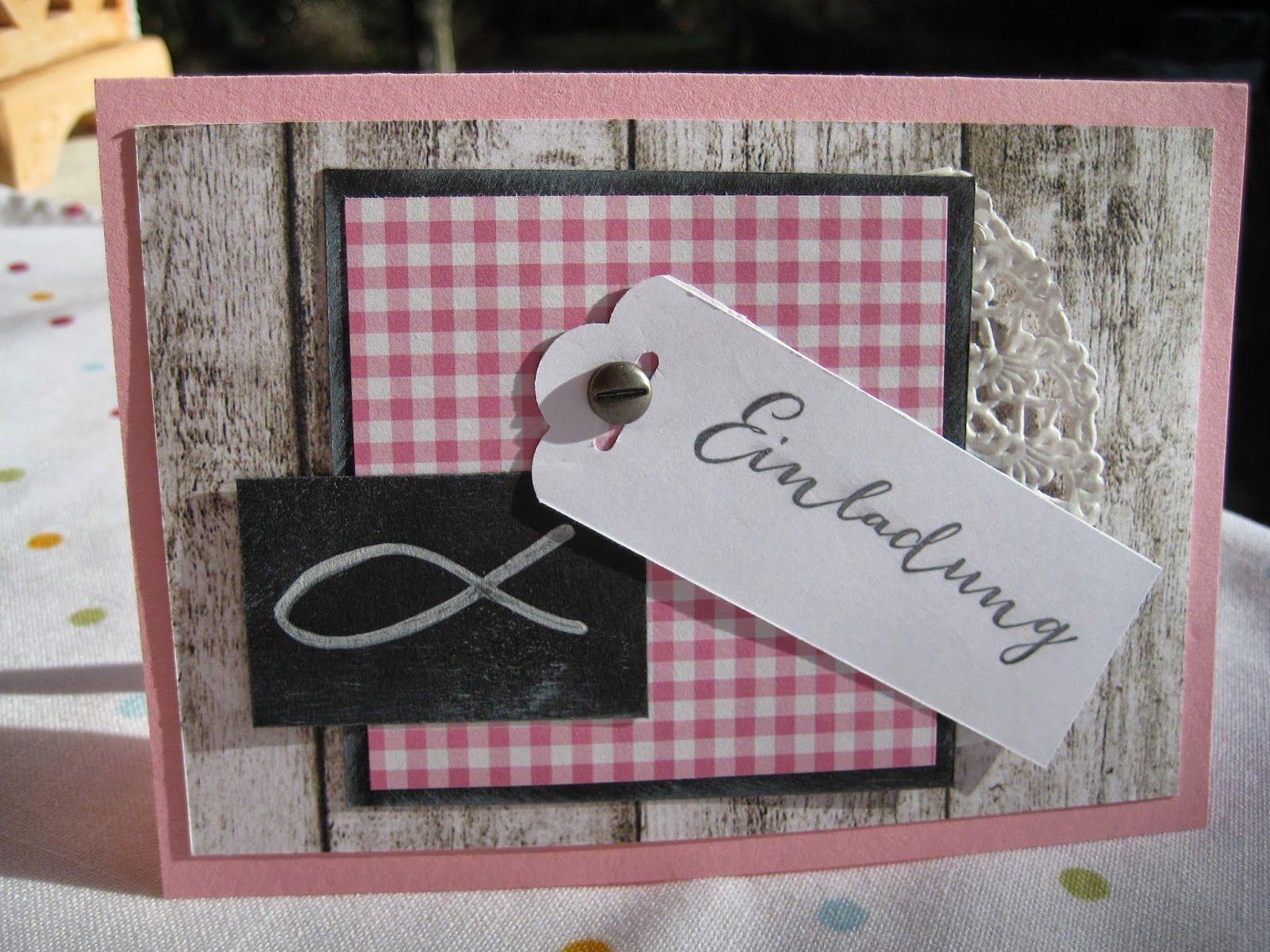 karoskreativkram.blogspot.de einladungskarte mit fisch, Einladung