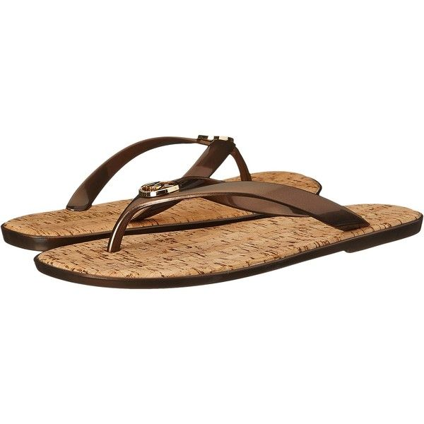 MICHAEL Michael Kors Jet Set MK Jelly (Bronze Pvc) Women's Sandals ($23)