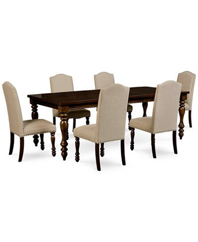 Kelso 7Pcdining Set Dining Table & 6 Side Chairs  Dining Alluring Side Chairs Dining Room Design Decoration