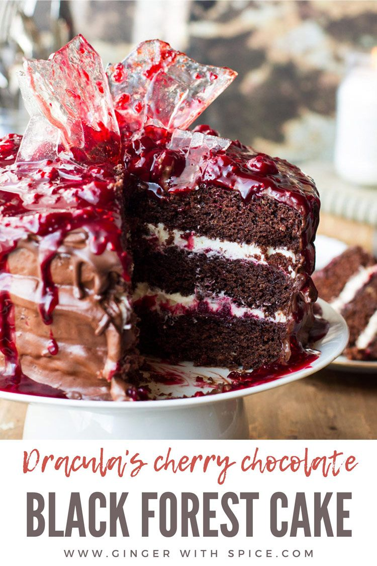 Draculas Cherry Chocolate Cake (Black Forest Cake)