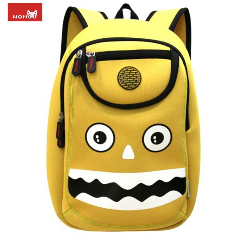 NOHOO Monster Children School Bags Cute 3D Cartoon Bags for Girls ...