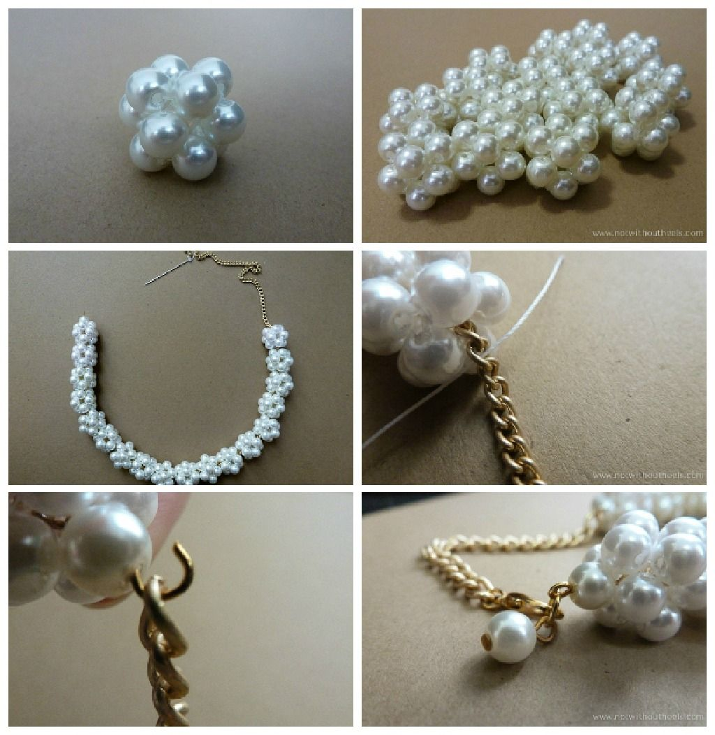 Diy White Pearl Necklace Craftionary Diy Pearl Necklace Pearls Diy Beaded Jewelry