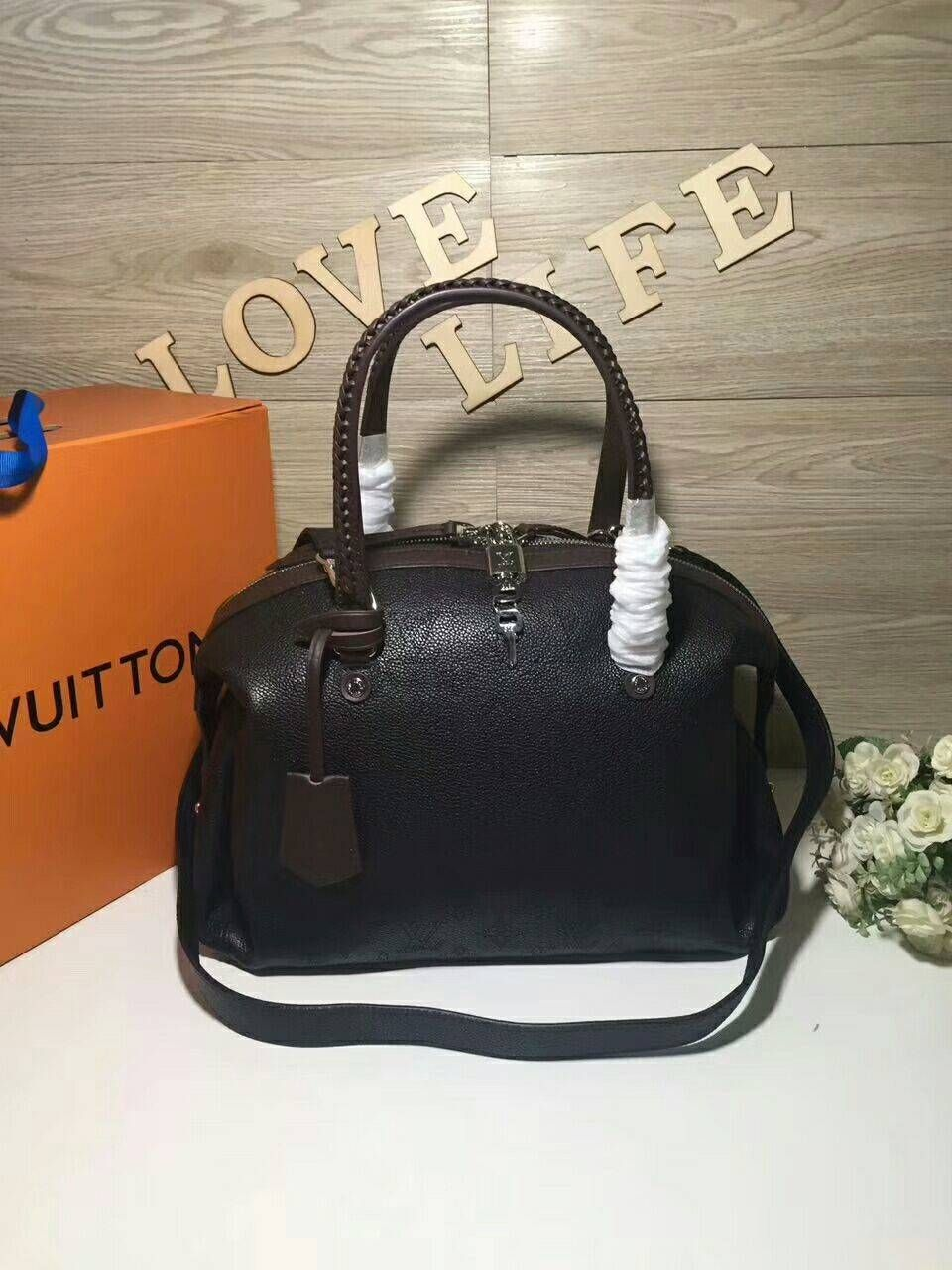 Louis Vuitton Handbag M54671 Black Mahina Asteria Designer Handbag Brands 44969446aaddd