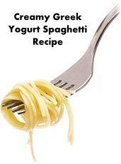 creamy greek yogurt spaghetti recipe