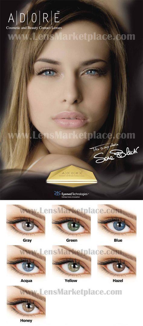 87ec778e94 Adore Bi-Tone colored contact lenses - Gray, Green, Blue, Aqua, Yellow,  Hazel, Honey. #eye #color #contacts Italian Colored Contacts