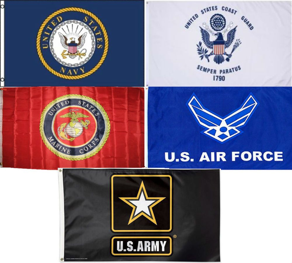 Wholesale Lot 5 3x5 Branches Military Usaf Uscg Usmc Army Navy Set Flag 3 X5 5 Military Flag Navy Party Themes Army Navy