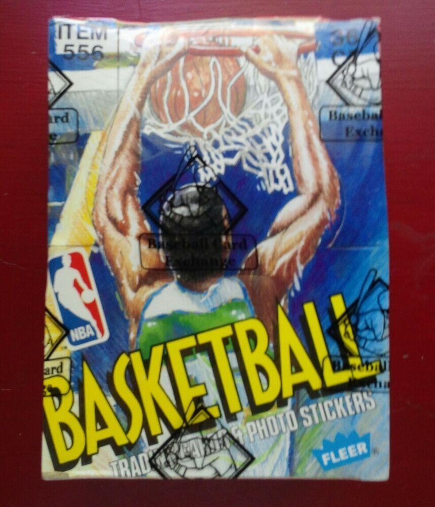1989 fleer basketball wax box bbce unopened sealed