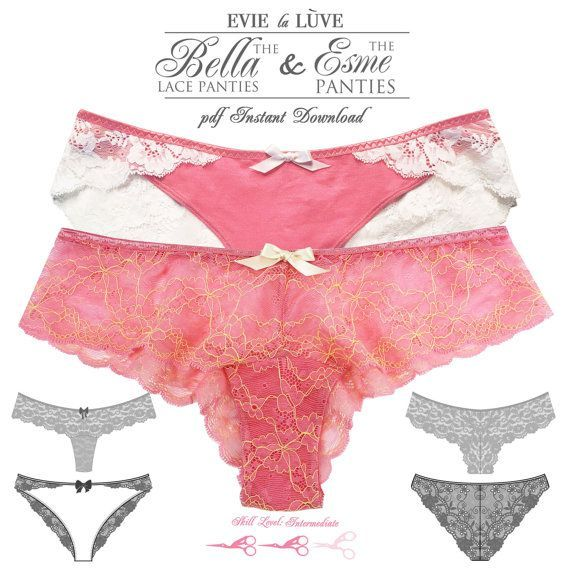 Draw Pattern - DIGITAL Lingerie Sewing Patterns - Esme & Bella ...