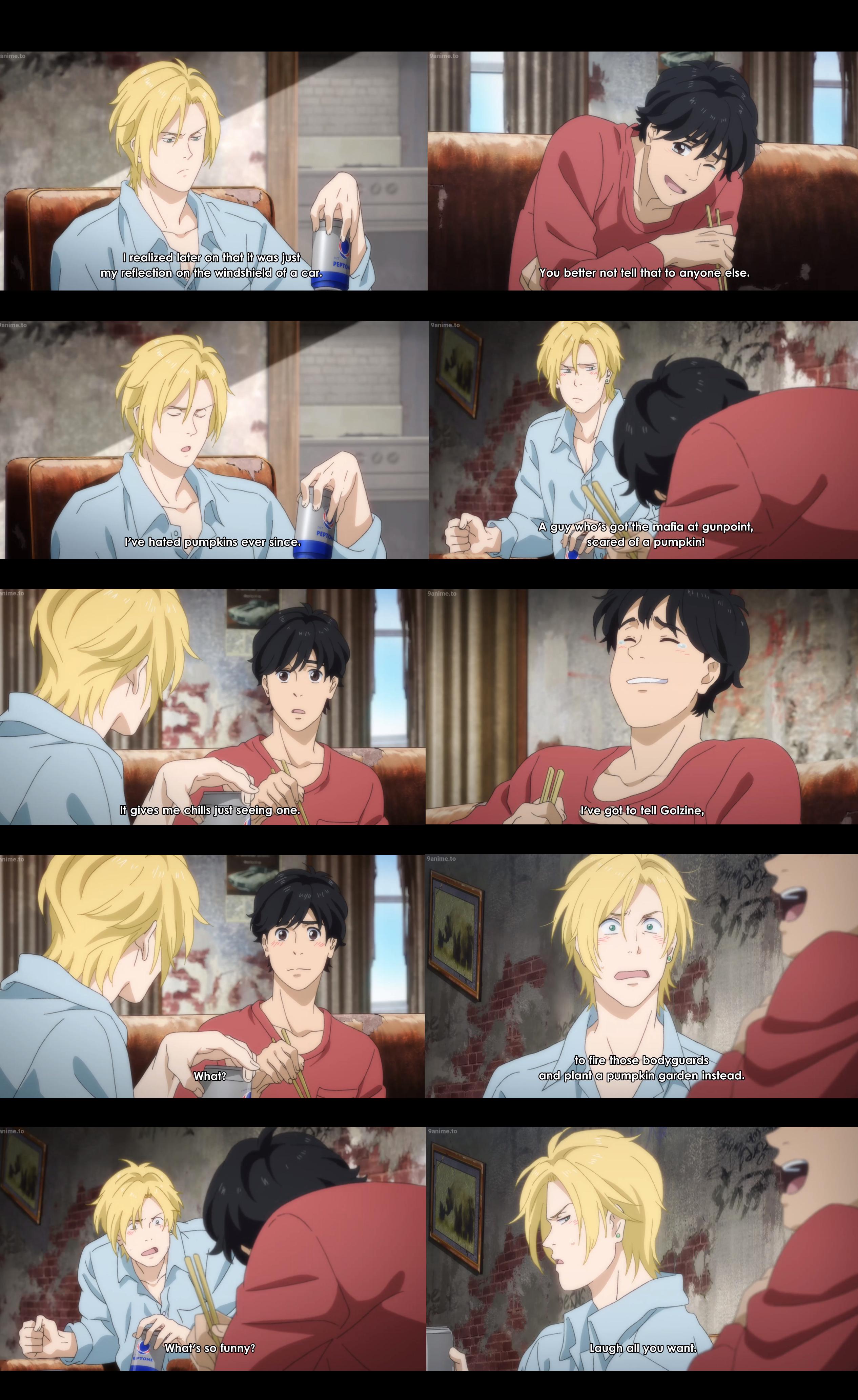 Banana Fish Ep 11 Ash Is Scared Of Pumpkins Ash X Eiji Anime Anime Funny I Love Anime