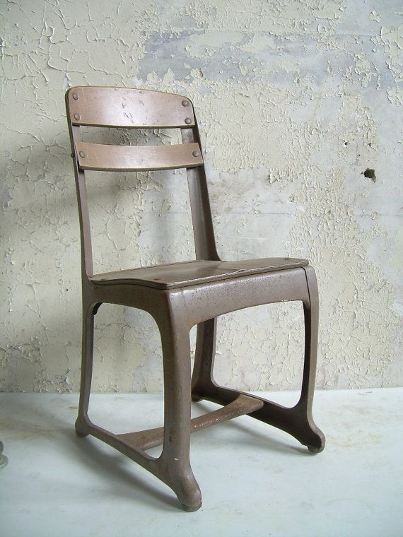 Antique School Chair Wood and Metal on Etsy, $35.00 - Reserved For Chelsea 4 Antique School Chairs For The Home