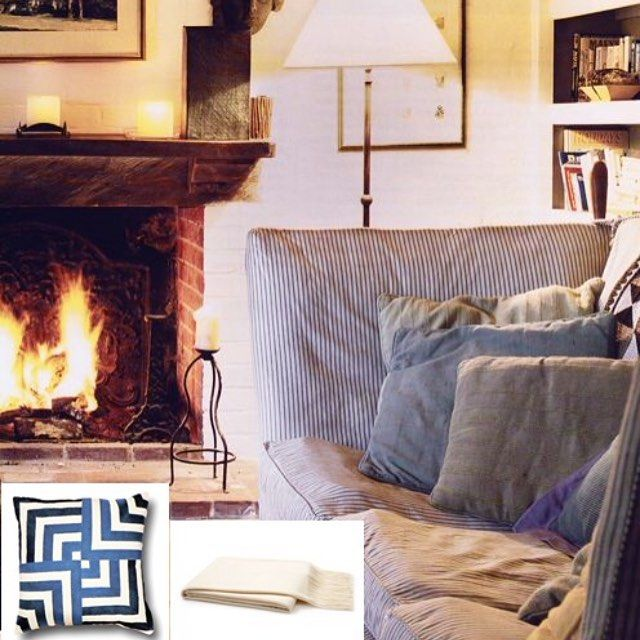 Give me a killer sofa, a cozy throw and a roaring fire and I'm set for the night!  Even better... add a bowl of chili and a can't-miss movie!  Sunday evenings are the best of the week.