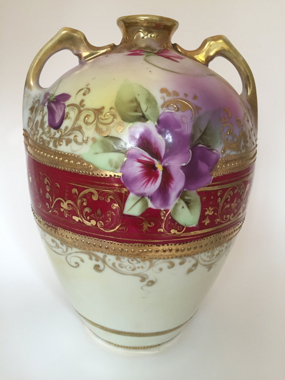 Antique nippon vase hand painted flowers with gold moriage accent antique nippon vase hand painted flowers with gold moriage accent by jfrmre on etsy antique nippon reviewsmspy