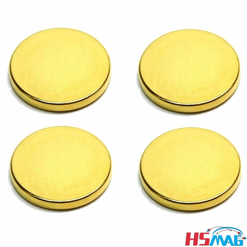 Neodymium Round N50 Permanent Magnet O45 X 5mm Gold Magnets Neodymium Magnets Disc Magnet