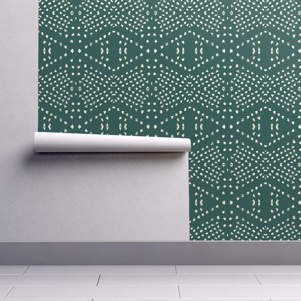 Boho Tile Marine Removable Wallpaper 2ft W x 1ft L