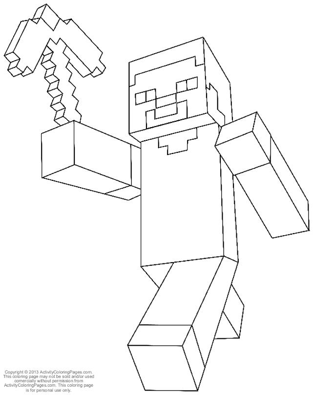 Ausmalbilder Minecraft 01 Minecraft Ausmalen Ausmalbilder Und