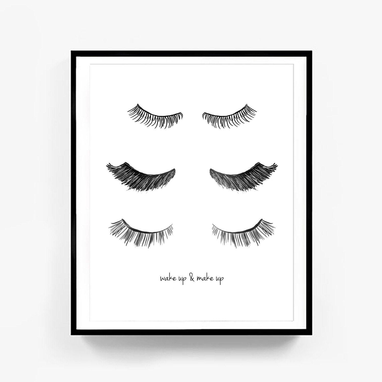 Fashion Wall Decor eye lash print minimalist poster, fashion print, wall decor