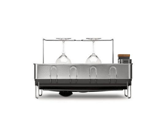 Best Amazon Com Simplehuman Steel Frame Dish Rack With Wine 640 x 480
