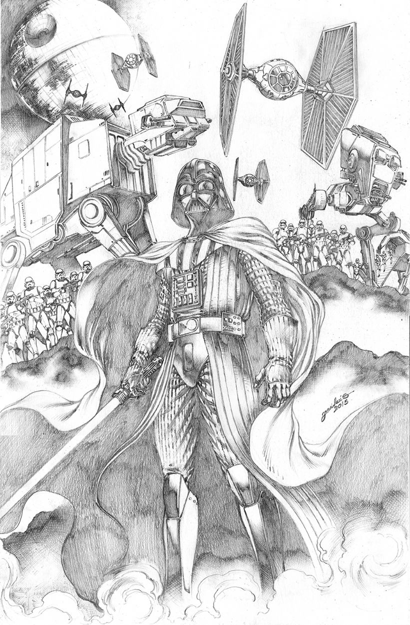 Darth Vader commission sample W.B. Pictures to draw