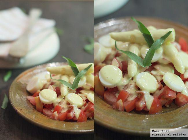 Ensalada de tomate y palmito