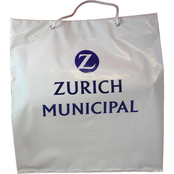 Bags : Plastic Carrier Bag with Rope Handles