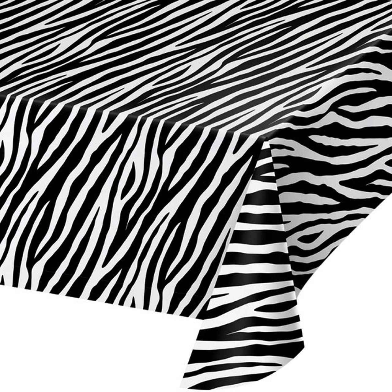 Zebra Print Table Cover 54x108in Zebra Print Party
