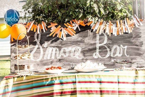 Party S'more Bar with Creative Toppings