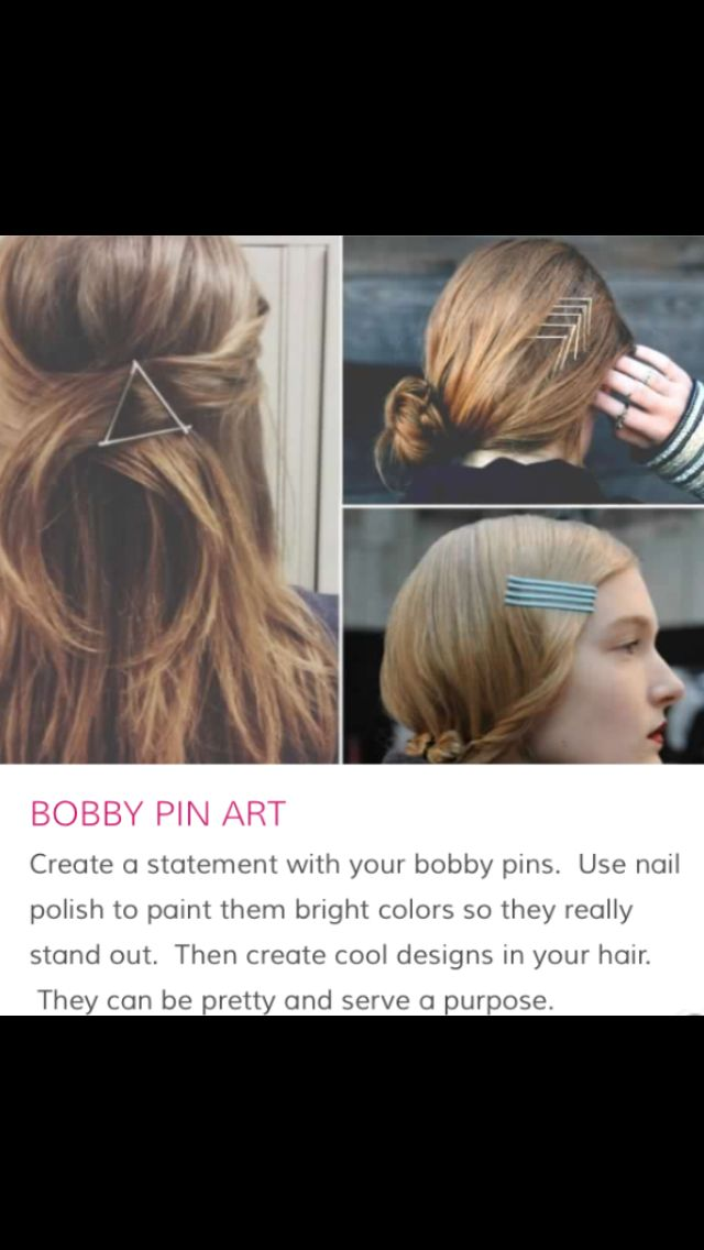 Bobby pin art