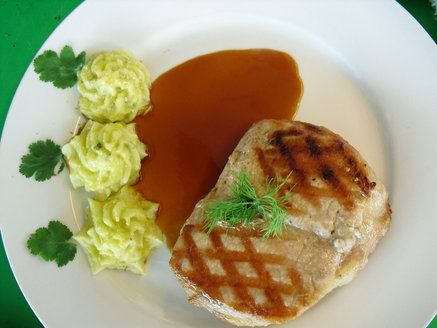 Grilled chicken mashed potatoes and gravy