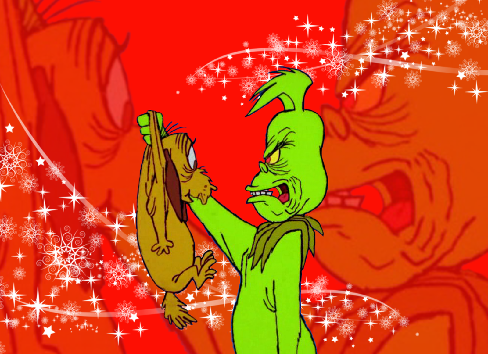 The Grinch and his dog, Max! Grinch, Grinch stole