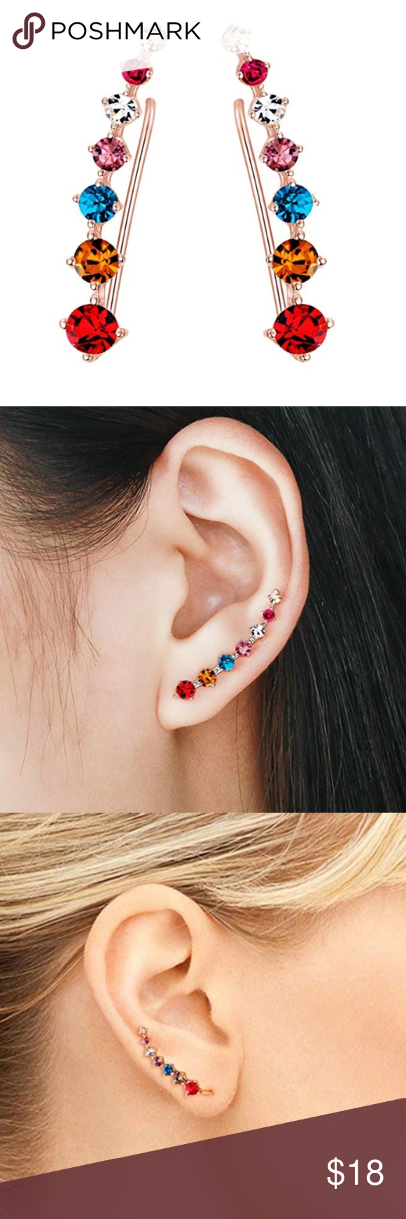 All Colors Hypoallergenic Piercing Cuffs Boutique Ear Cuff