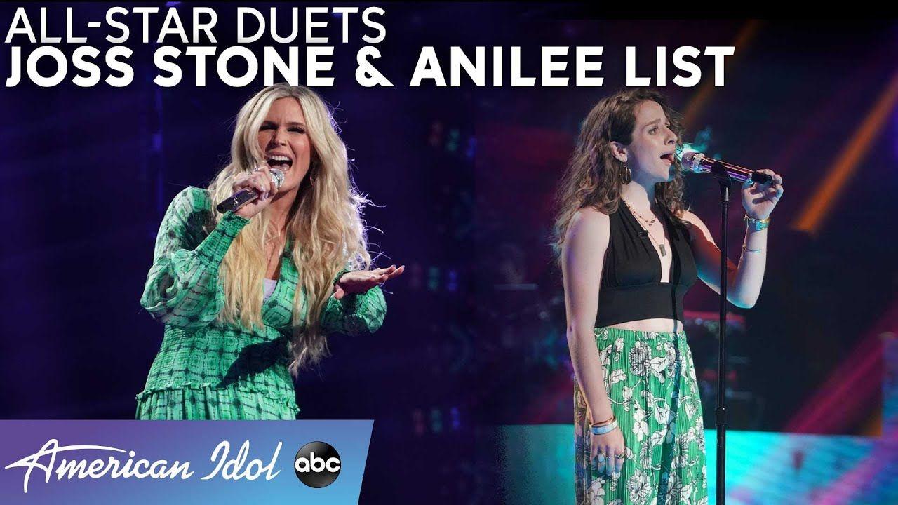 Anilee List Belts Billie Eilish Tell Me Something Good With The Joss Stone American Idol 2021 Youtube In 2021 American Idol Joss Stone Billie Eilish