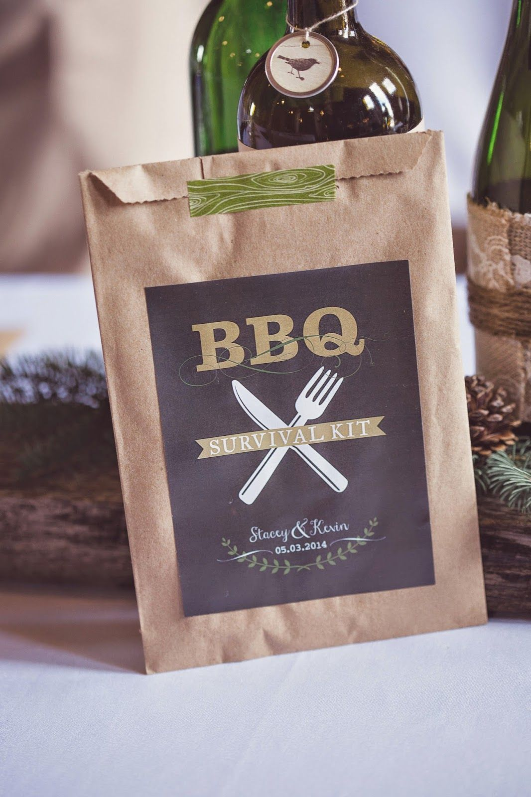 bbq survival kit perfect for all your eating supplies wet nap