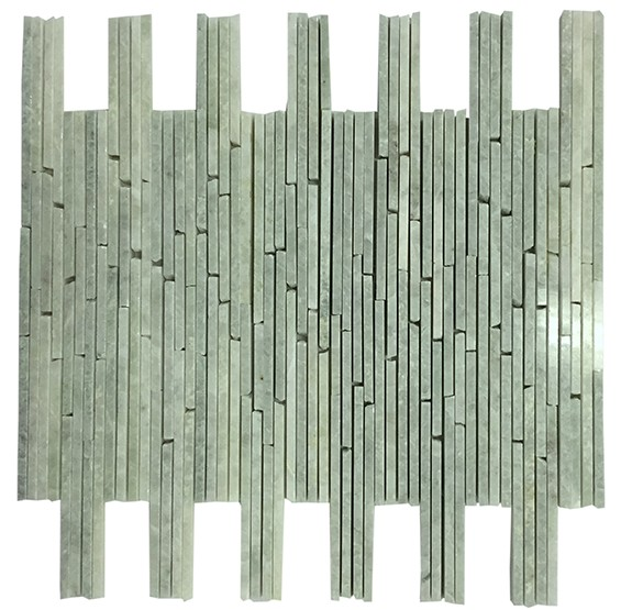 12x12 Ming Green Marble Bamboo Pencil Mosaic Tile Marble Mosaic Tiles Green Marble Mosaic Tiles
