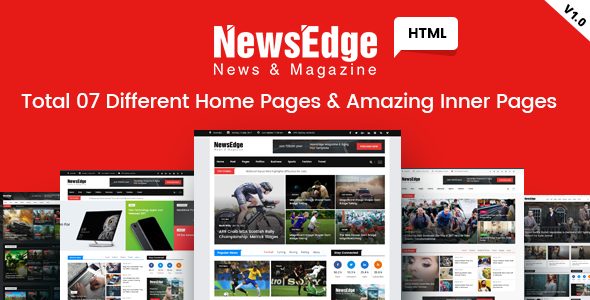 NewsEdge - News & Magazine HTML Template | Template and Magazines on security magazine, fireworks magazine, table of contents magazine, microsoft magazine, google magazine, android magazine, dom magazine, photoshop magazine,