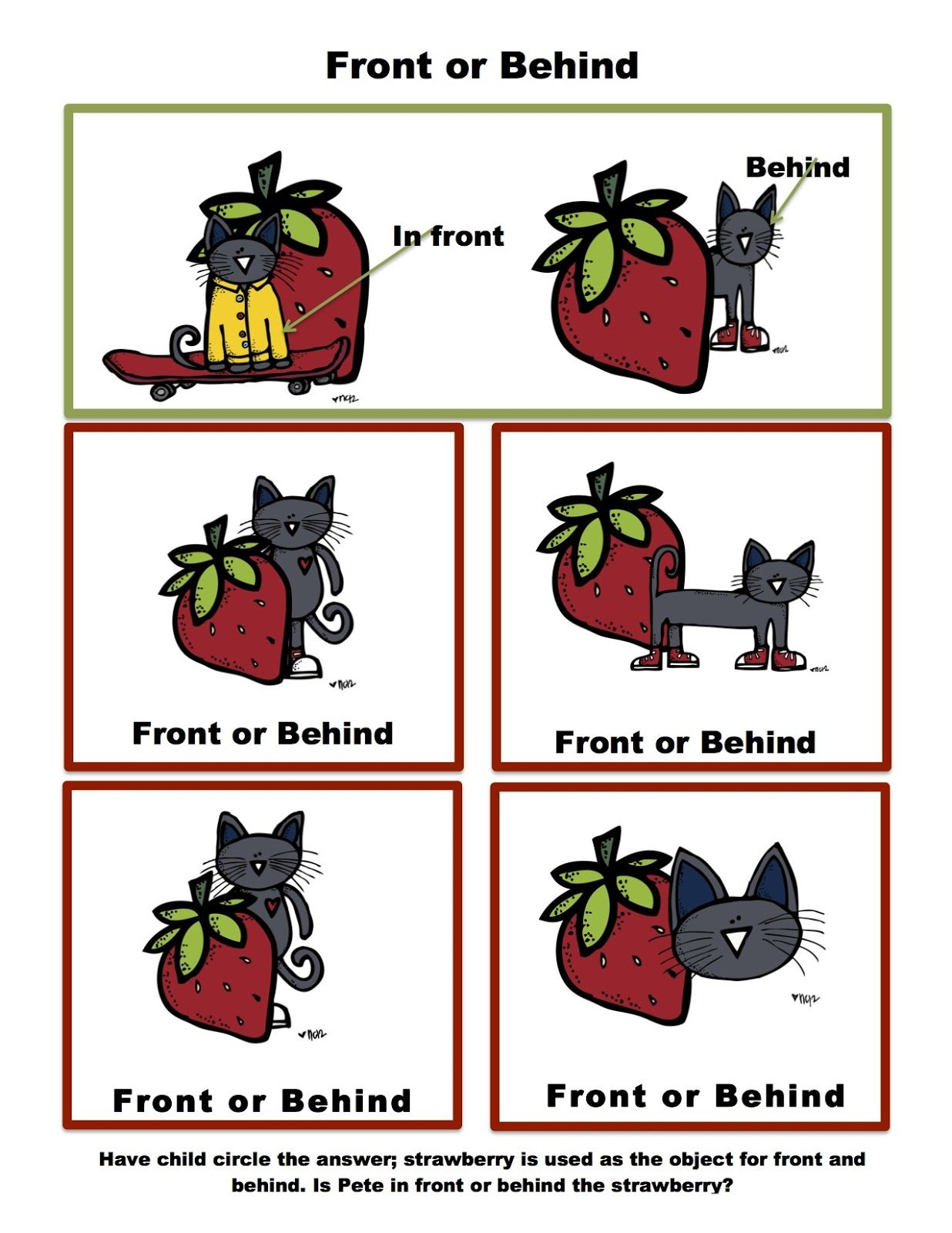 Preschool Printables Free Pete The Cat Theme