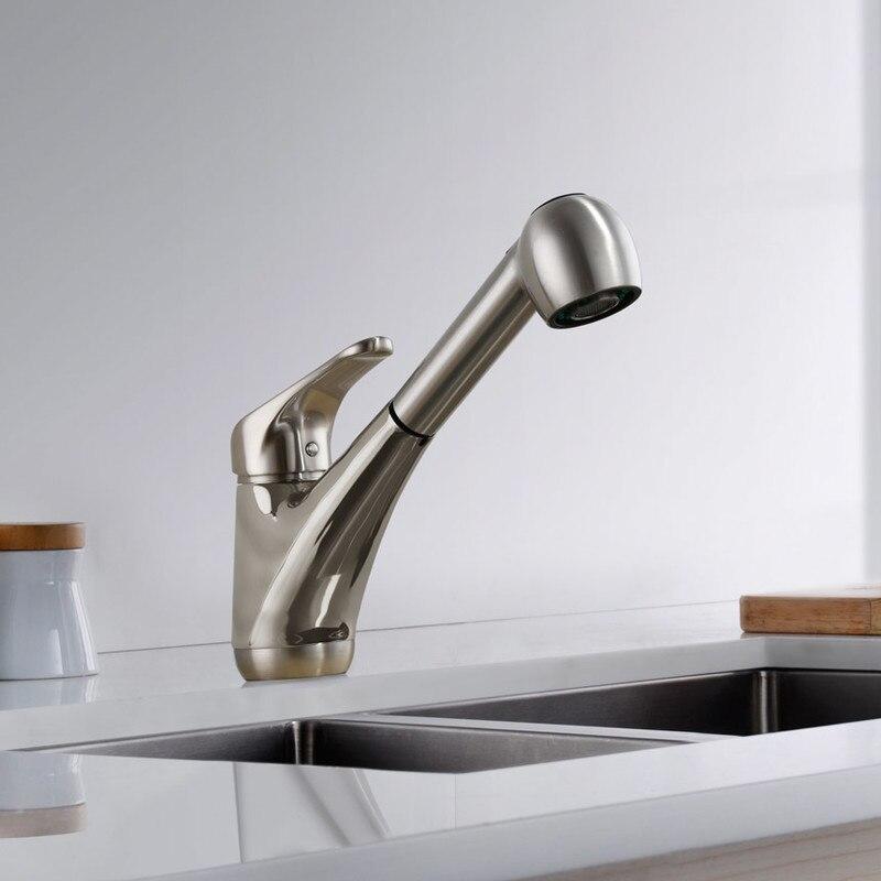 8002 009 Single Handle Kitchen Faucet Brushed Nickel Single