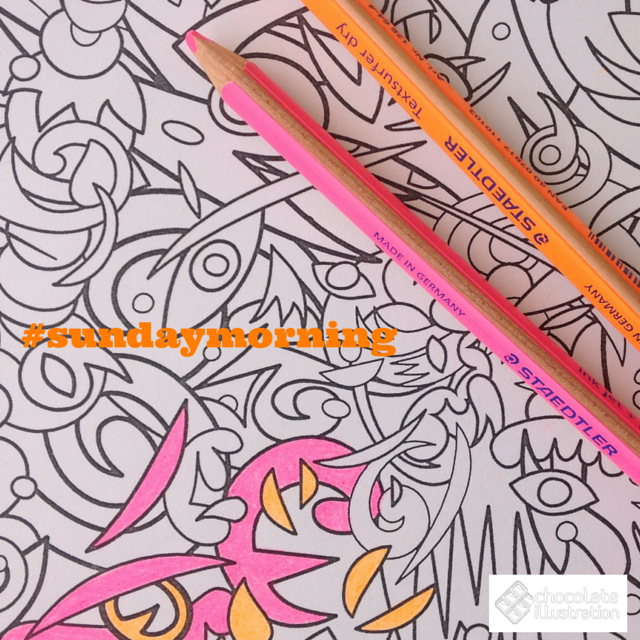 Colorear! El mejor plan para el domingo por la mañana!! #indajungle #evgenykiselev #dibujosparacolorear #yocoloreo #todospintamos #mystaedtler