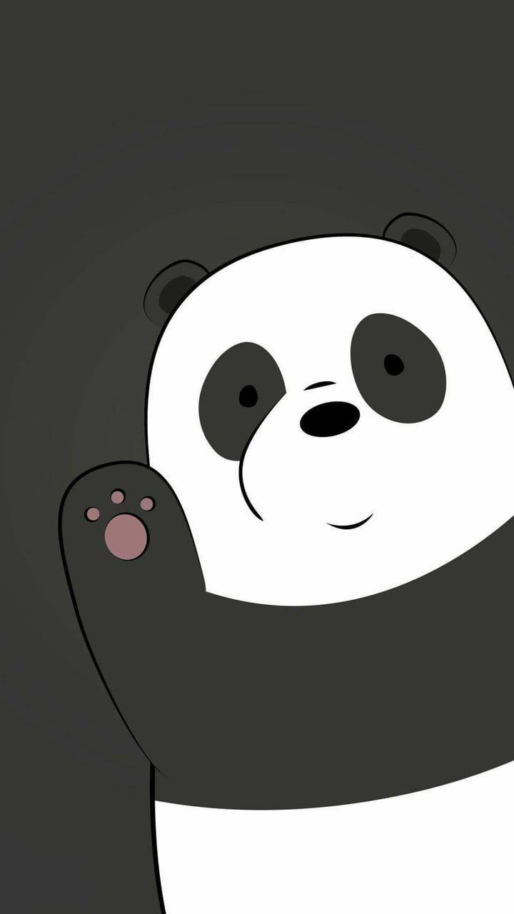 Imagen De Panda Wallpaper And Bear Bear Wallpaper We Bare Bears Wallpapers Cute Panda Wallpaper Cute black panda wallpaper