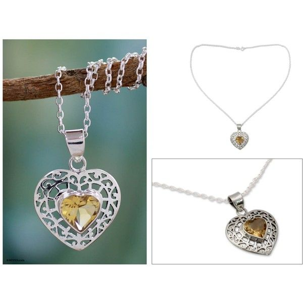 Novica citrine heart necklace 73 liked on polyvore featuring novica citrine heart necklace 73 liked on polyvore featuring jewelry necklaces mozeypictures Image collections