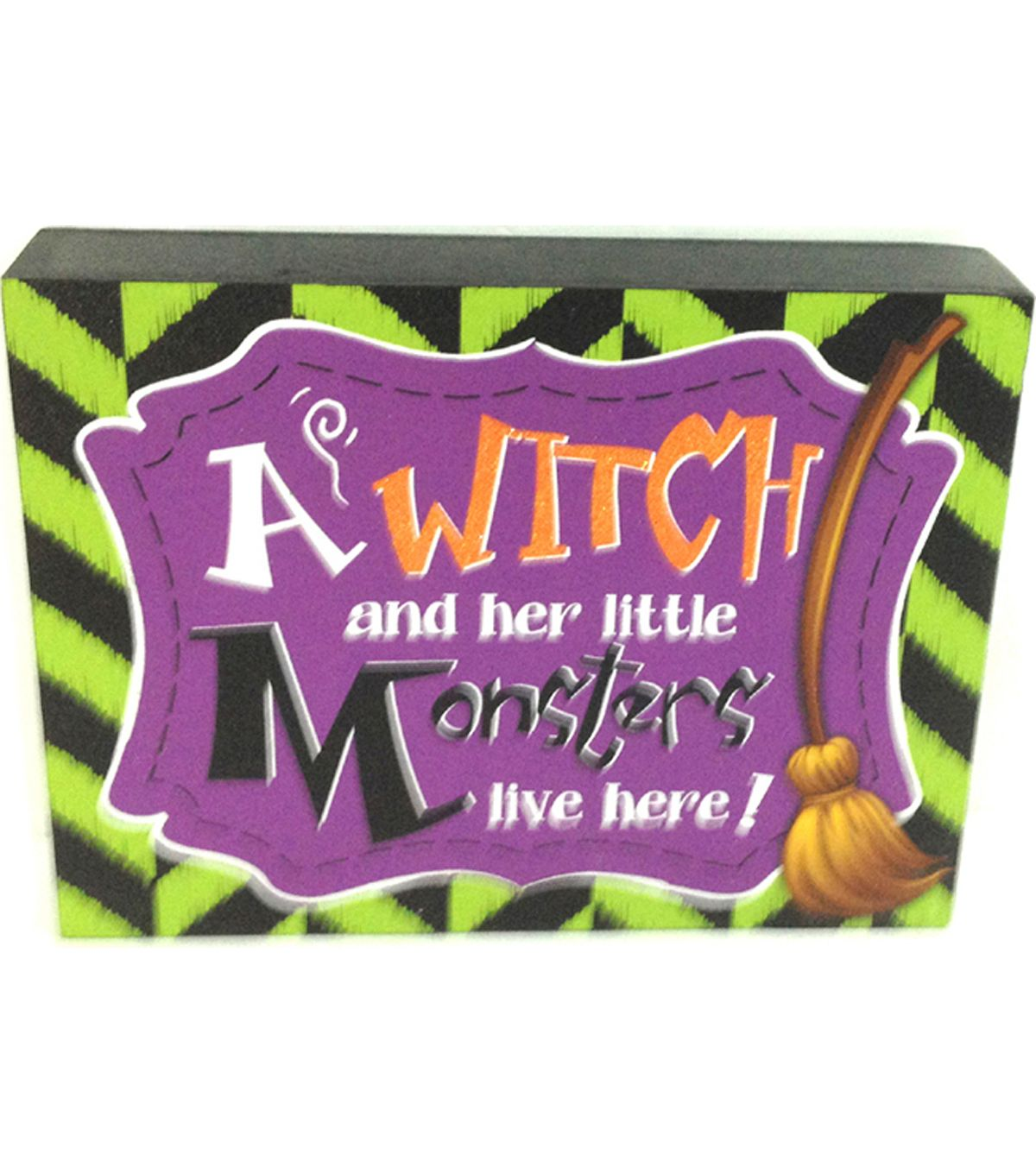 Maker's Halloween Halloween Witch Monsters Table Sign