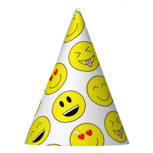 Your Guest Will Love Wearing These Emojis Party Hats Matches Other Emoji Items