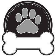 20af53549bdcb Dog paw print Clipart Vector Graphics. 1