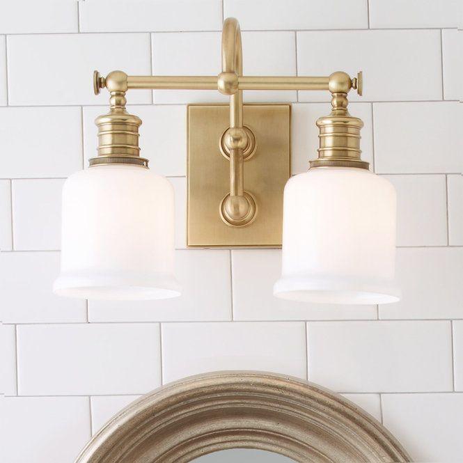 Well Appointed Bath Light 2 Light Interior Light Fixtures Bath Light Brass Bathroom Lighting
