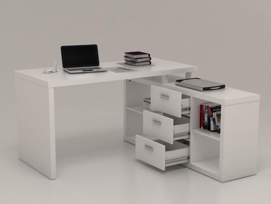 Bureau dangle avec rangements aldric blanc bureaux pinterest