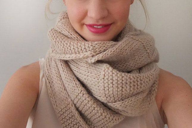 Unique Chunky Scarf Pattern Knit Inspiration Easy Scarf Knitting
