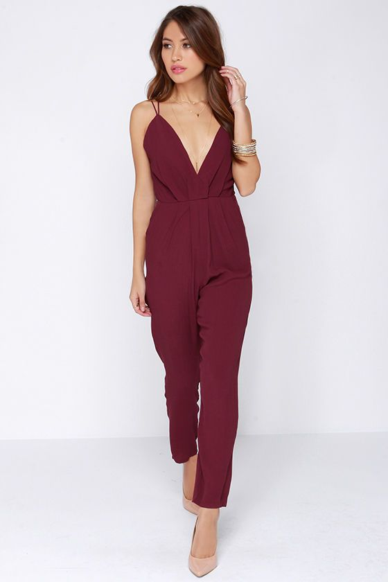 2ba2a5afd461 Shop for My Way Burgundy Jumpsuit by Lovers + Friends at ShopStyle. Now for  Sold Out.