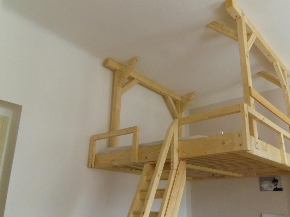 Hochbett mit rutsche selber bauen  kinderhochbett selbst gebaut - Google-Suche | home | Pinterest ...